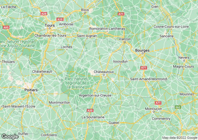 Map for Centre, Indre