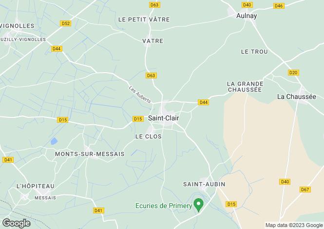 Map for Poitou-Charentes, Vienne, St-Clair