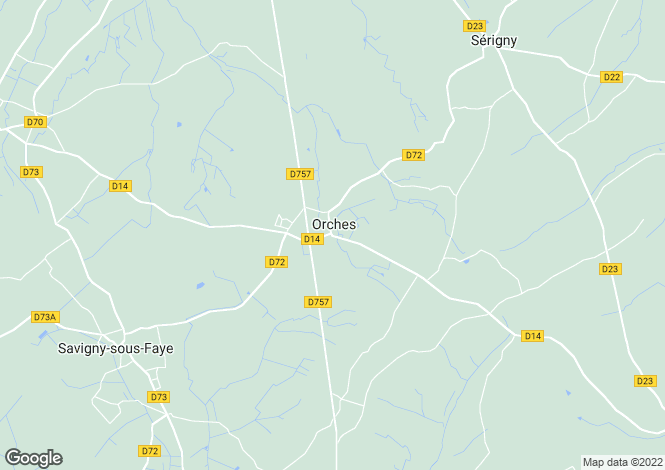 Map for Poitou-Charentes, Vienne, Orches