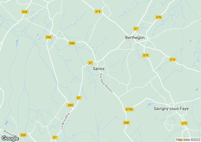 Map for saires, Vienne, France
