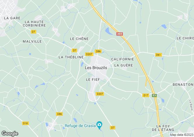 Map for les-brouzils, Vendée, France