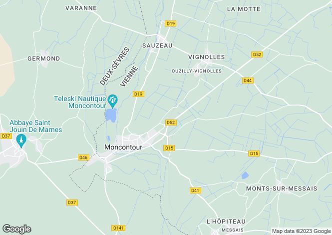 Map for Poitou-Charentes, Vienne, Moncontour