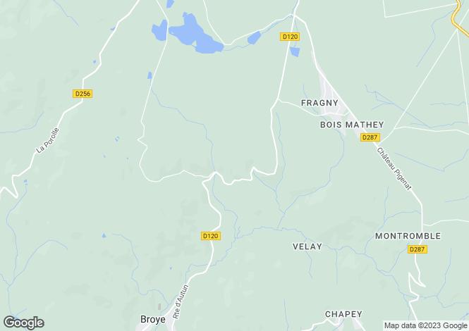 Map for Broye, Bourgogne, 71190, France