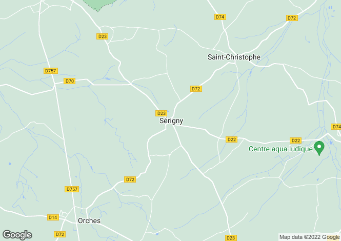 Map for serigny, Vienne, France