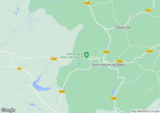 Map for Saint-Honore-Les-Bains, Bourgogne, 58360, France