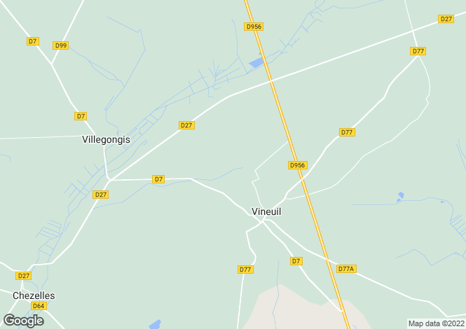 Map for Centre, Indre, Vineuil