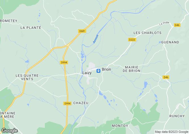 Map for Laizy, Bourgogne, 71190, France