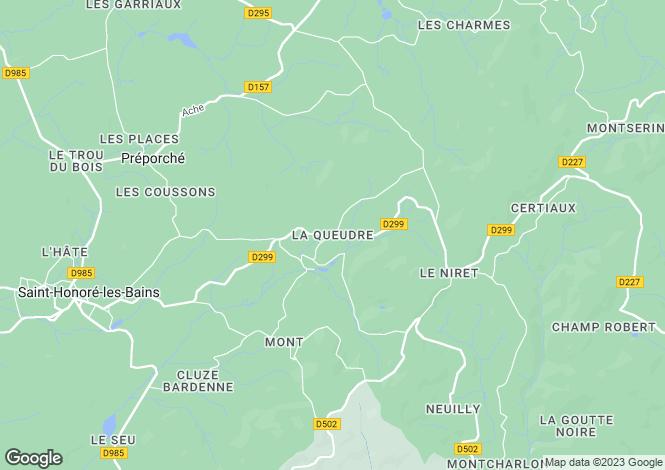Map for Saint-Honore-Les-Bains, Bourgogne, 58360, France
