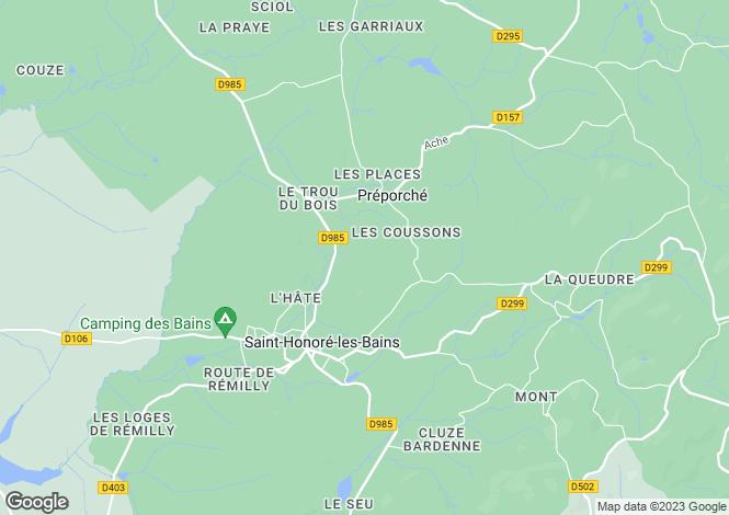 Map for Burgundy, Nièvre, St-Honoré-les-Bains