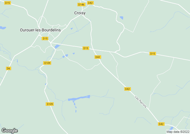 Map for ourouer-les-bourdelins, Cher, France