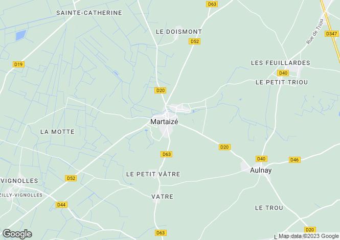 Map for Poitou-Charentes, Vienne, Martaizé