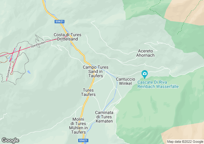 Map for Campo Tures, Bozen, Trentino-South Tyrol