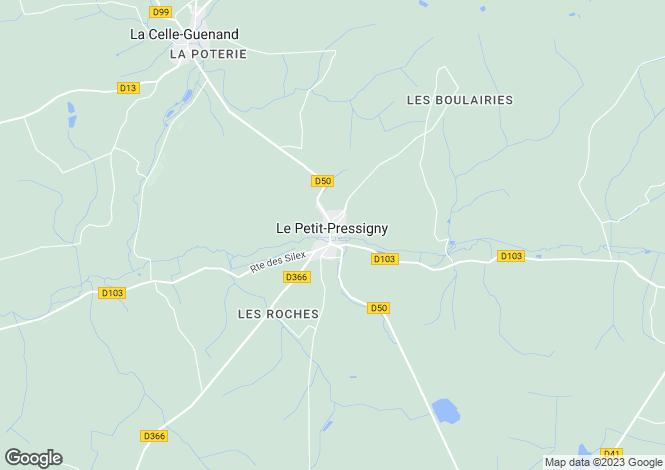 Map for Centre, Indre-et-Loire, Le Petit-Pressigny
