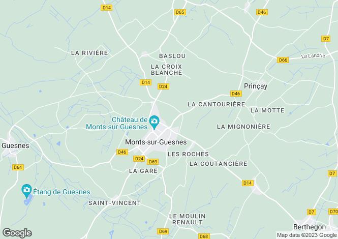 Map for monts-sur-guesnes, Vienne, France