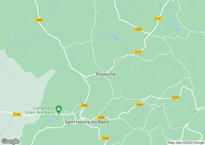 Map for Preporche, Bourgogne, 58360, France