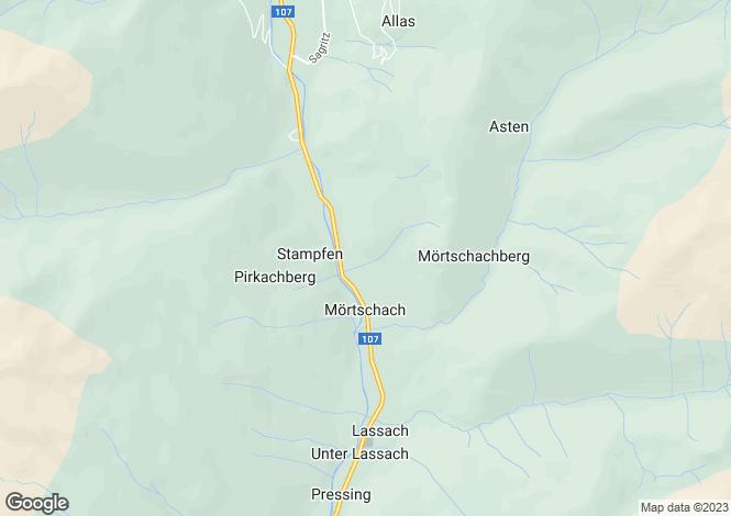 Map for Mörtschach, Spittal an der Drau, Carinthia