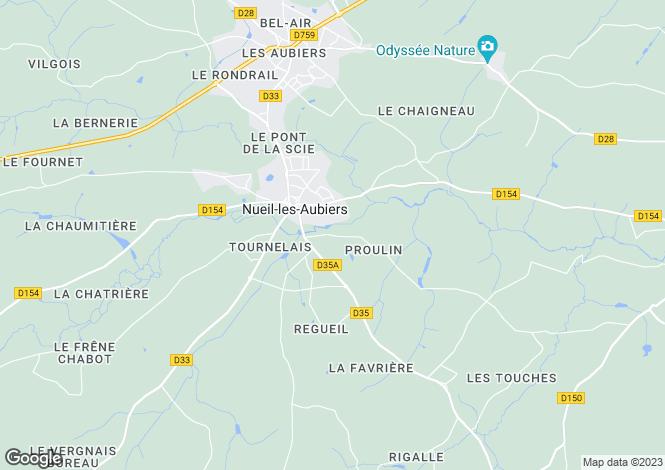 Map for nueil-les-aubiers, Deux-Sèvres, France