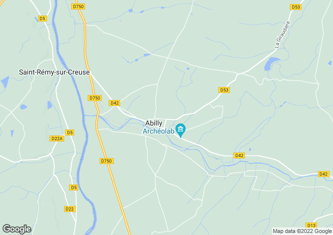 Map for Abilly, Indre-et-Loire, Centre