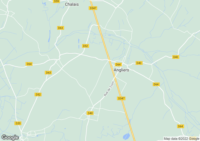 Map for Poitou-Charentes, Vienne, Angliers