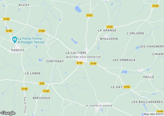 Map for moutiers-sous-argenton, Deux-Sèvres, France