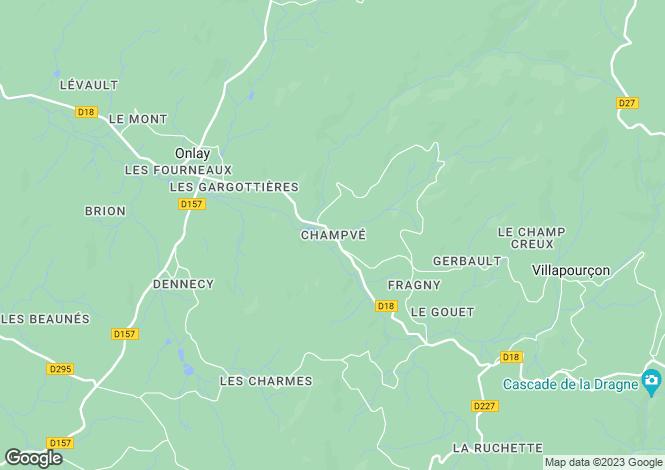 Map for Villapourcon, Bourgogne, 58370, France
