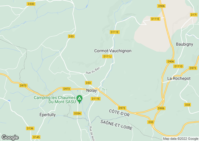 Map for NOLAY, COTE D'OR