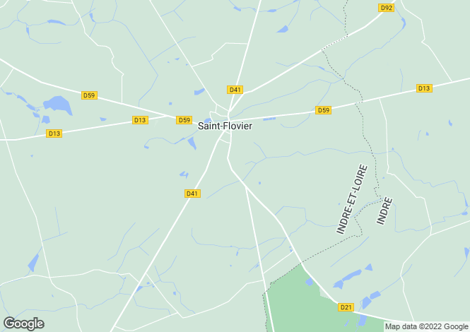 Map for Centre, Indre-et-Loire, St-Flovier