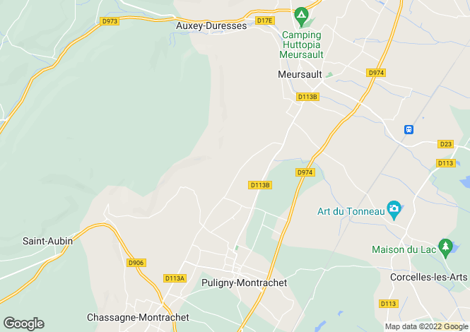 Map for PULIGNY MONTRACHET, COTE D'OR