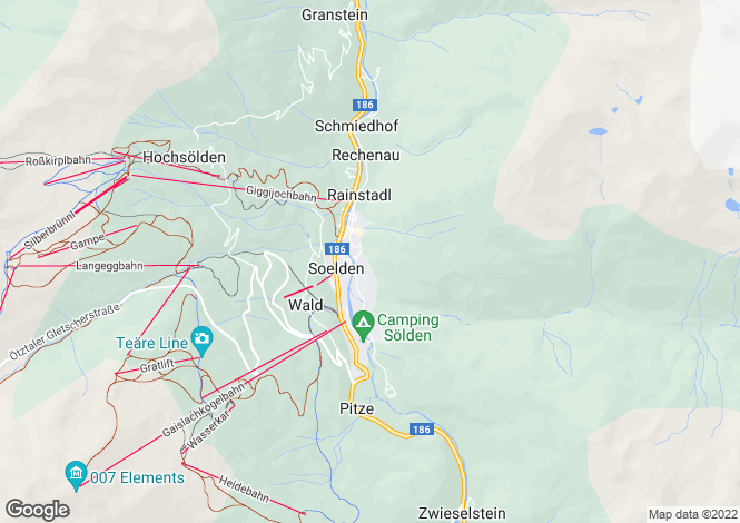 Map for Solden, Tyrol