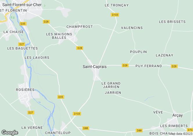 Map for st-caprais, Cher, France