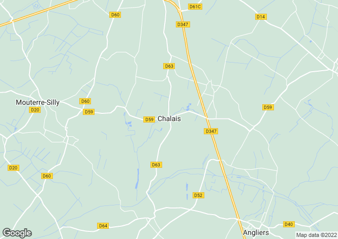 Map for chalais, Vienne, France