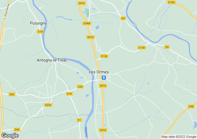 Map for les-ormes, Vienne, France