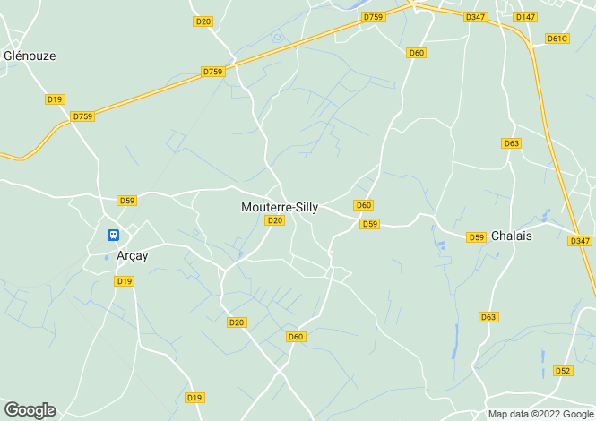 Map for Mouterre-Silly, Vienne, 86200, France