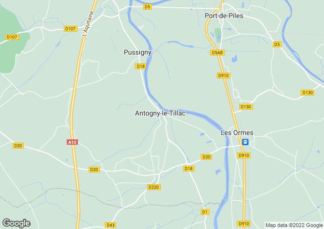 Map for antogny-le-tillac, Indre-et-Loire, France