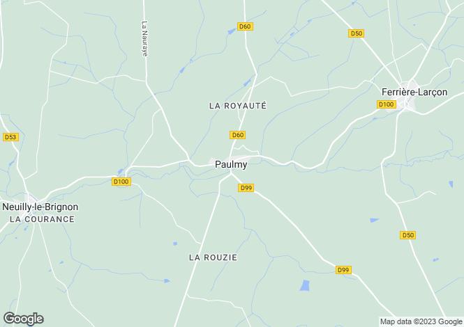 Map for paulmy, Indre-et-Loire, France