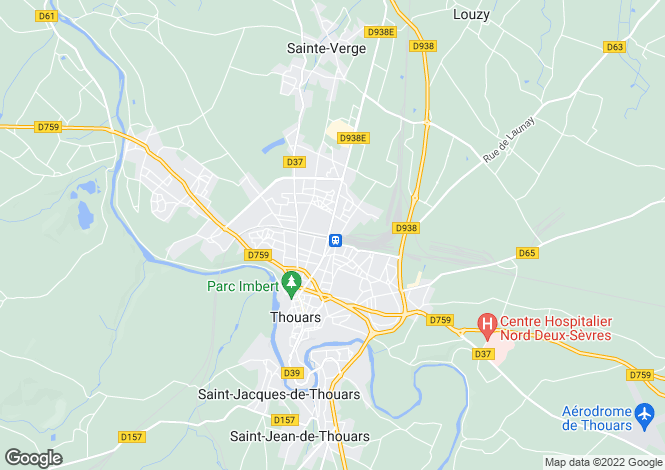 Map for thouars, Deux-Sèvres, France