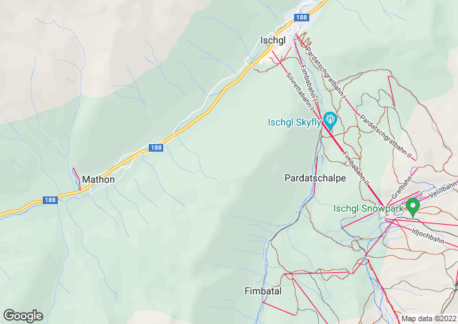 Map for Ischgl, Tyrol
