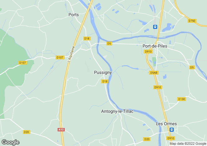 Map for Centre, Indre-et-Loire, Pussigny
