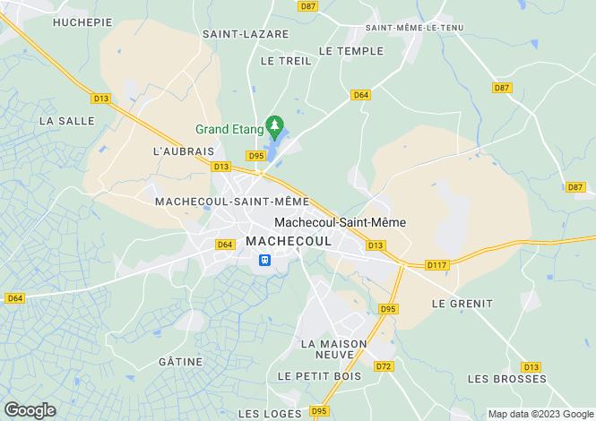 Map for machecoul, Loire-Atlantique, France