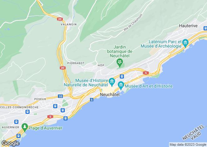 Map for Neuchatel, Neuchatel