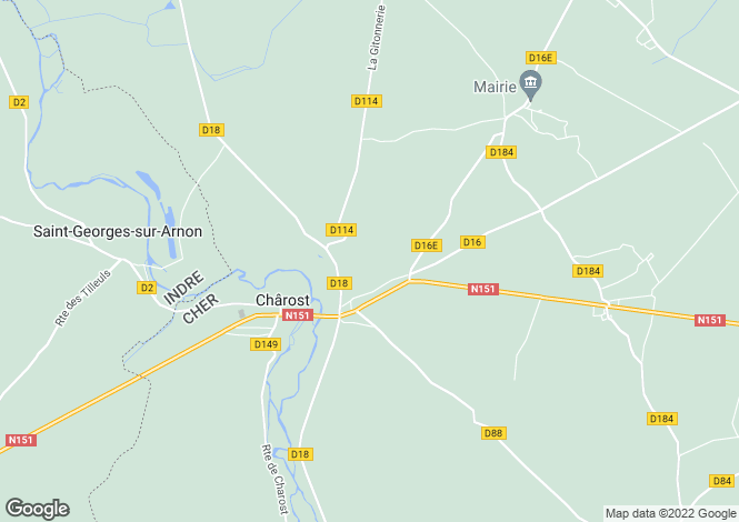 Map for charost, Cher, France