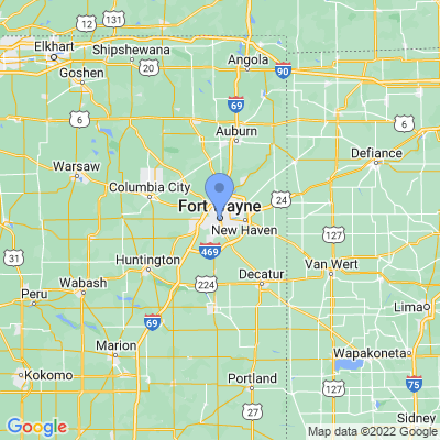 Map of truck driving jobs in Fort Wayne, Indiana