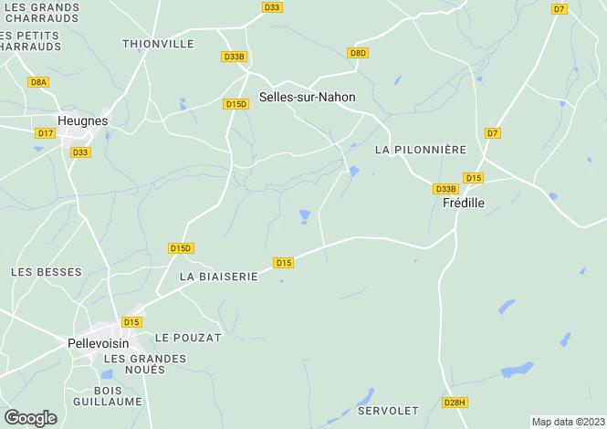 Map for Centre, Indre, Selles-sur-Nahon
