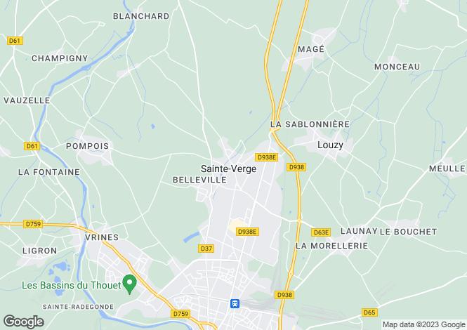 Map for ste-verge, Deux-Sèvres, France