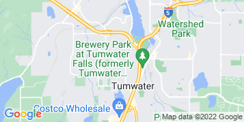 Tumwater Gutter Cleaning map