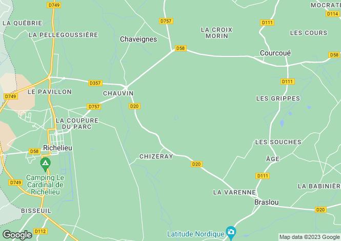 Map for Richelieu, Tours, Touraine