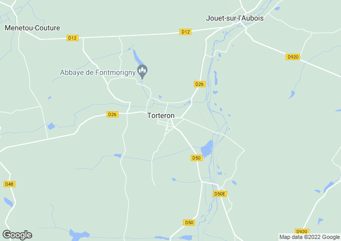 Map for torteron, Cher, France