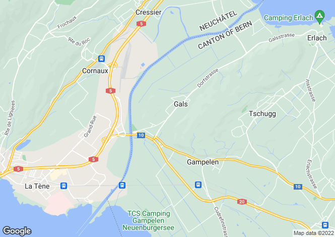 Map for Switzerland - Bern, Gals