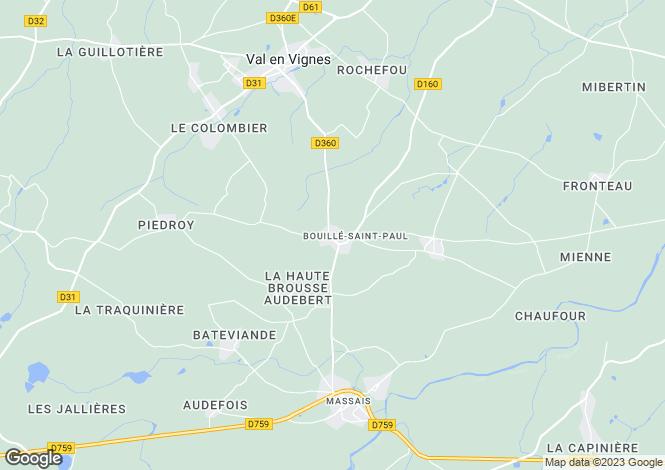 Map for bouille-st-paul, Deux-Sèvres, France