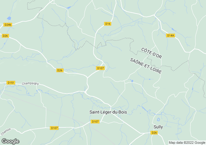 Map for Saint-Leger-Du-Bois, Bourgogne, 71360, France